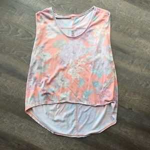 Free people floral muscle tank